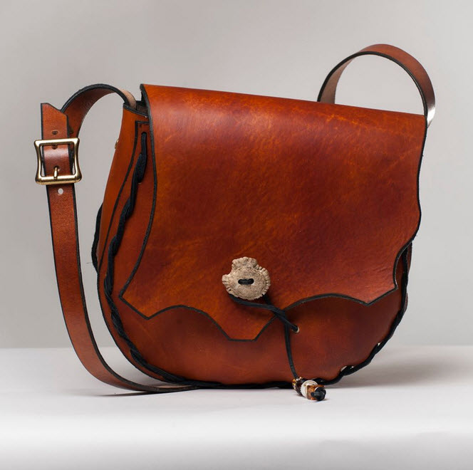 Leather Antler Purse